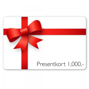 Presentkort – 1,000kr