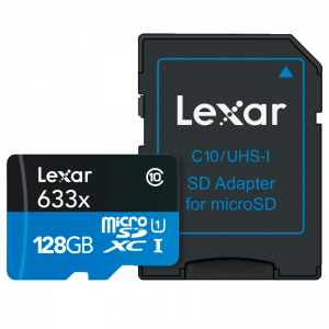 Lexar – MicroSDHC 633x 128GB
